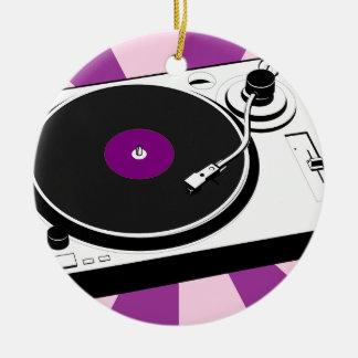 Custom Disco Turntable Retro Record Ceramic Ornament