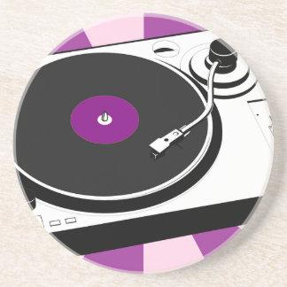 Custom Disco Turntable Retro Record Coaster