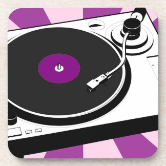 Custom Disco Turntable Retro Record Drink Coasters