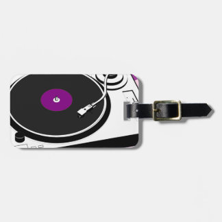Custom Disco Turntable Retro Record Luggage Tag