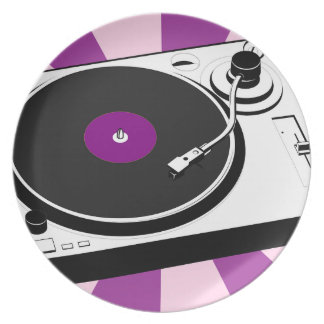 Custom Disco Turntable Retro Record Plate