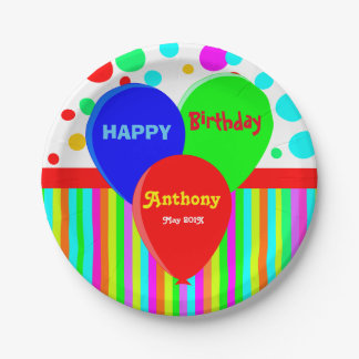 Custom disposable party 7 inch paper plate