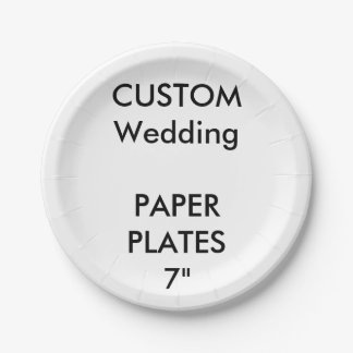 "Custom Disposable Wedding Paper Cake Plates 7"" 7 Inch Paper Plate"