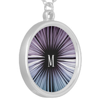 Custom Divine beautiful art rays colours joy Silver Plated Necklace