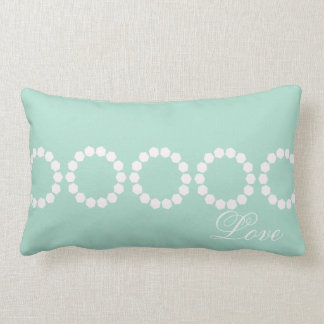 Custom Divine Mint Green Retro Style Lumbar Pillow