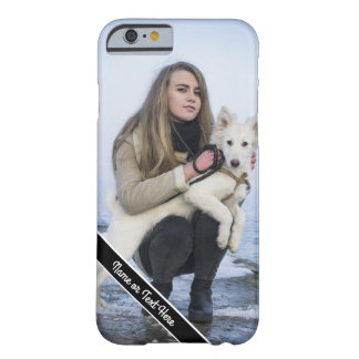 Custom Dog and Girl Photo Phone Case