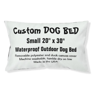 """Custom Dog Bed - OUTDOOR Small 20"""" x 30"""" Small Dog Bed"""