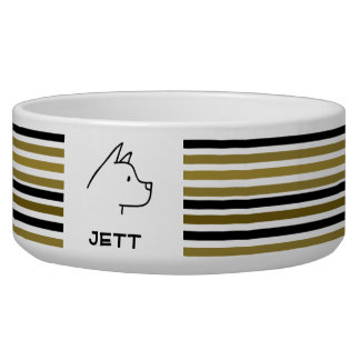 Custom Dog Great Dane Golden Black Stripes