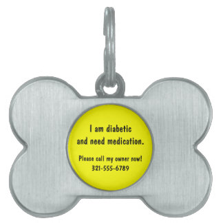 Custom Dog or Cat Medical Alert ID Tag