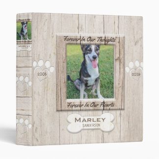 Custom Dog Photo Memorial Binder