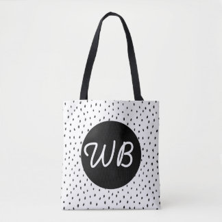 Custom Doodle Spot Tote Bag