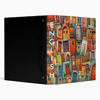 Custom Doors of the World Vinyl Binders