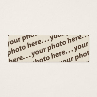 Custom Double Photo Bookmark w/Thoreau Quote Mini Business Card