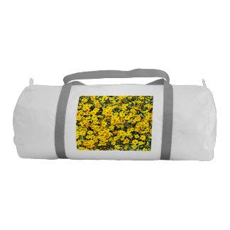 Custom Duffle Gym Bag In Wildflowers
