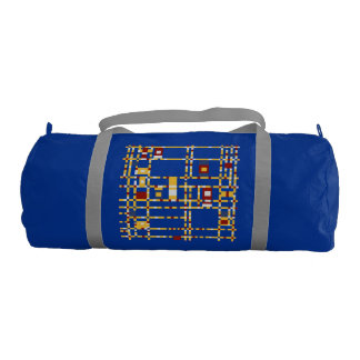 Custom Duffle Gym Bag, Regatta Blue with Silver st Gym Bag
