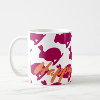 Custom Easter Bunny Rabbit Silhouette mug