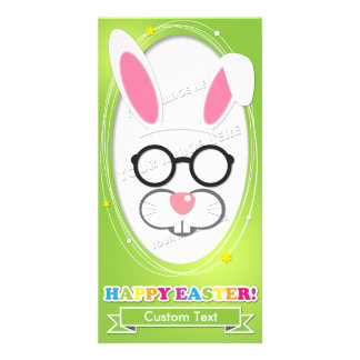 Custom Easter Photo Booth Props Card. Customized Photo Card