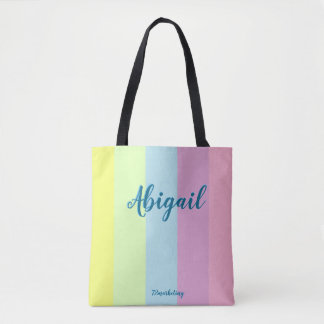 Custom Easter Tote Bag Pastel Girls Purse Adorable