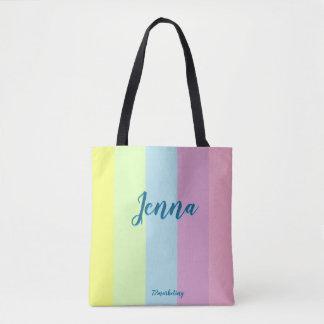 Custom Easter Tote Bag Pastel Girls Purse Cute