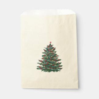 Custom Ecru Favor Bag Holiday Tree