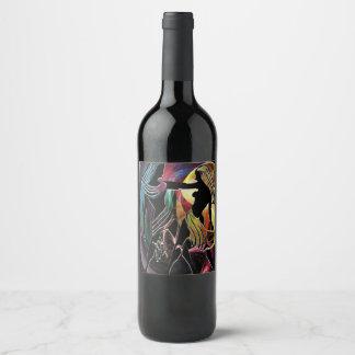 Custom egyptian design wine bottle labels