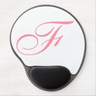 Custom elegant and modern red script monogram… gel mouse pad