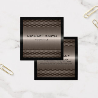Custom Elegant Bronze Stainless Metal Square Business Card