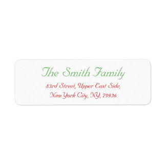 Custom Elegant Christmas Mail Return Address Label