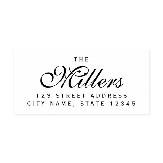 Custom Elegant Family Name Home Address Self-inking Stamp