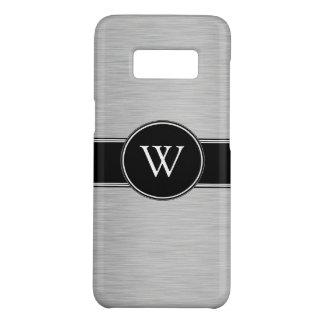 Custom Elegant Modern Silver Black Monogram Case-Mate Samsung Galaxy S8 Case