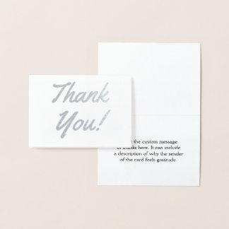 "Custom, Elegant & Personalized ""Thank You!"" Card"