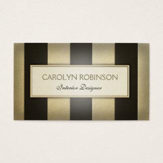 Custom Elegant Soft Gold and Black Business Card
