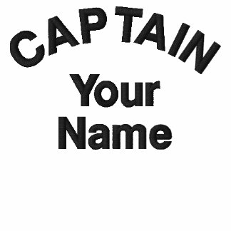 Custom Embroidered Captain Template
