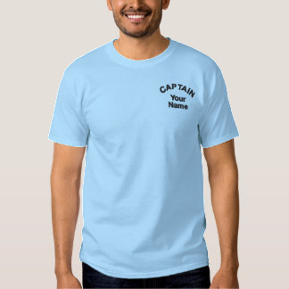 Custom Embroidered Captain Template Embroidered T-Shirt