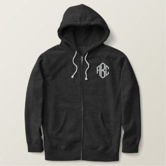 Custom Embroidered Initials Embroidered Hoodie