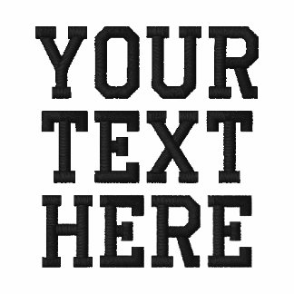Custom Embroidered Text Zip Hoodie