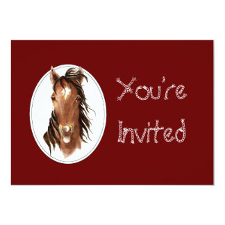 """Custom Equestrian Horse Event, Contest or Party 5"""" X 7"""" Invitation Card"""