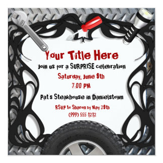 Custom Event Auto Mechanic Invitations