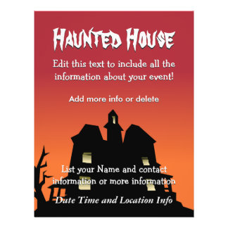 Custom Event Haunted House Flyers