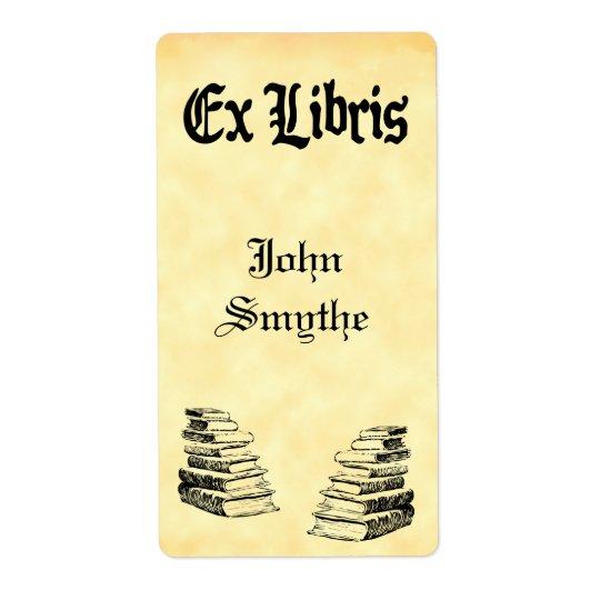 Custom Ex Libris Vintage Books Tags