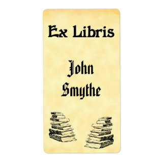 Custom Ex Libris Vintage Books Tags