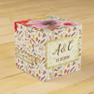 Custom Fall Floral Favour Box