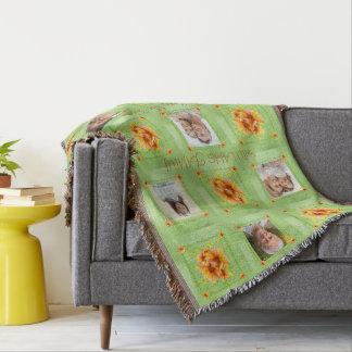 Custom Family Apricot Posies Love Garden Throw Blanket