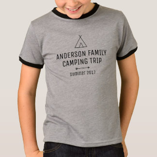Custom Family Camping Trip T-Shirt