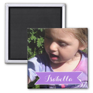 Custom Family Child Photo and Name Picture Magnet