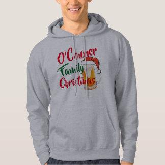 custom family christmas beer santa mens hoodie