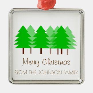 Custom FAMILY Merry Christmas Trees Ornament
