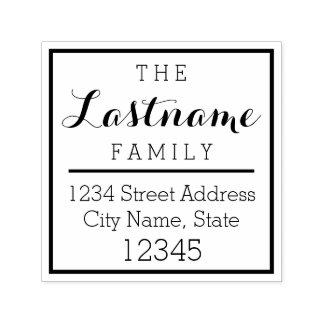 Custom Family Name and Return Address - Carolyna Self-inking Stamp