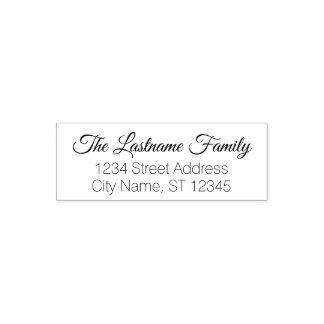 Custom Family Name and Return Address - Mod Vibes Self-inking Stamp