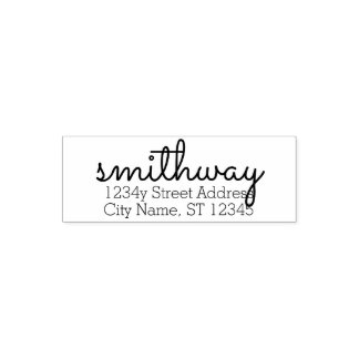 Custom Family Name & Return Address big Sacramento Self-inking Stamp